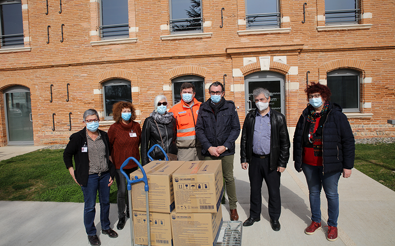 mairie de muret actualites distribution de 60000 masques aux associations caritatives de muret